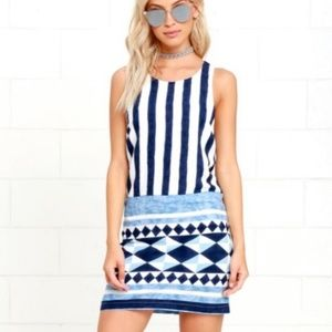 Lulu's Multitask Striped Shift Dress